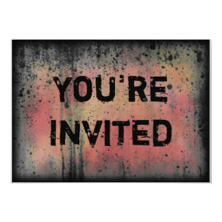 You're Invited Colorful Grunge Halloween Party Custom Announcements