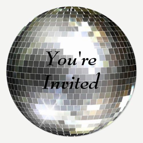 You're Invited - Disco Ball Invitation
