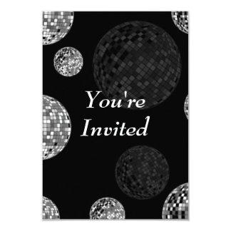 You're Invited - Disco Balls 3.5x5 Paper Invitation Card