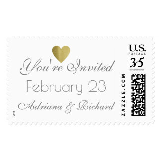 you're invited, elegant & clear wedding postage