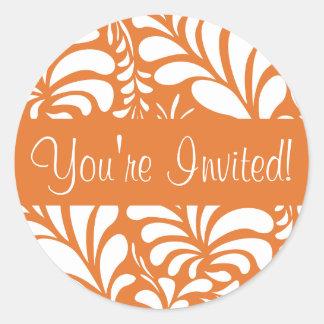 You're Invited Fern Flora Envelope Sticker Seal
