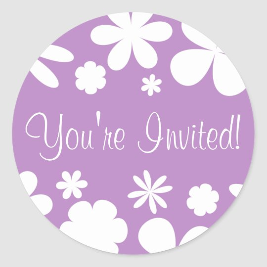 you re invited flower power envelope sticker seal zazzle com