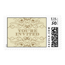 You're Invited gold 2 by Ceci New York Postage