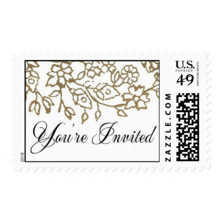 You're Invited (Gold) Postage