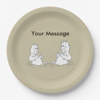 You're Invited! Groundhog Day Party Paper Plate