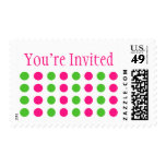 You're Invited (Hot Pink / Lime Green Stamp) Postage