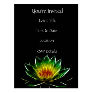 You're Invited | Inner Light l Lotus Abstract Art Postcard