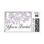You're Invited (Lavender) Postage Stamps