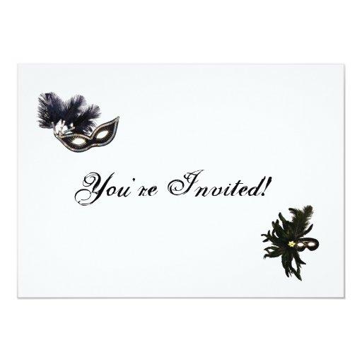 You're Invited Masquerade 5x7 Paper Invitation Card