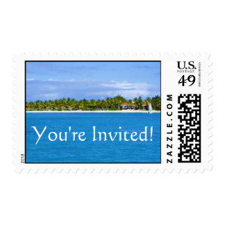 You're Invited Paradise Stamp