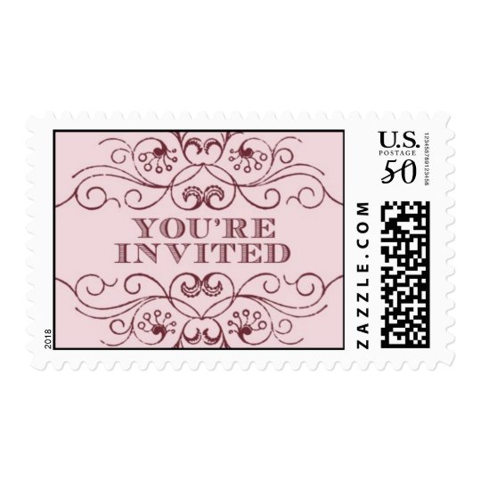 You're Invited pink 2 by Ceci New York Postage