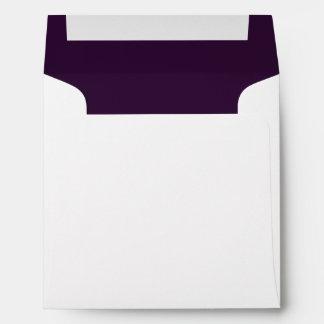 You're Invited Plum   Felt Custom Envelopes