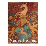 You're Invited Renaissance  White unicorn 5x7 Paper Invitation Card