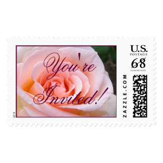 You're Invited!  Rose Large Postage