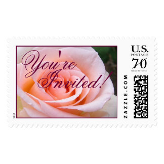 You're Invited Rose Large Stamp