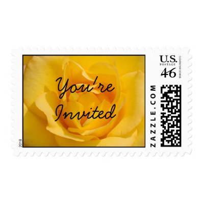 Youre Invited Rose Postage Stamps