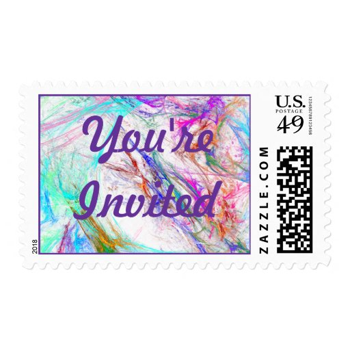 You're Invited RSVP Event And Wedding Postage Stam