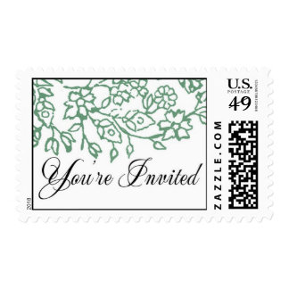 You're Invited (Seafoam Green) Postage