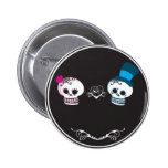 You're Invited Skull Couple Buttons