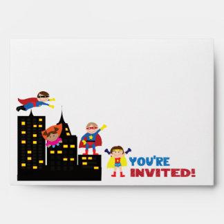 You're Invited Super Hero Envelope