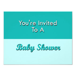 You're Invited To A Baby Shower 4.25x5.5 Paper Invitation Card