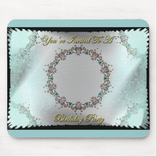You're Invited To A Birthday Party Mouse Pad