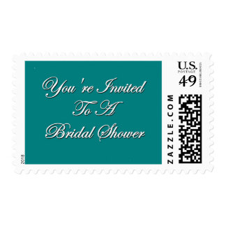 You're Invited To A Bridal Shower Postage Stamp