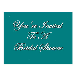 You're Invited To A Bridal Shower Postcard