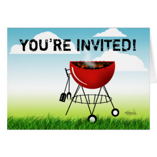 You're Invited to a Cookout invitation (barbeque)