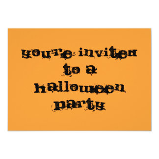 You're invited to a Halloween Party 5x7 Paper Invitation Card