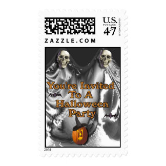 You're Invited To A Halloween Party Stamp