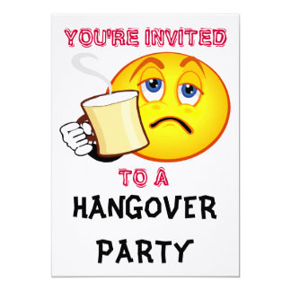 YOU'RE INVITED To A Hangover Party Invitation