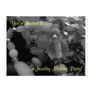 """You're Invited to a Jewelry Making Party!"""" Personalized Announcements"""