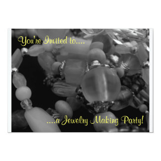 "You're Invited to a Jewelry Making Party!"" Personalized Announcements"