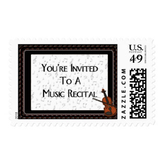 You're Invited To A Music Recital Postage