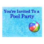 You're Invited To A Pool Party Post Card