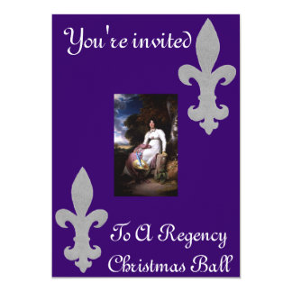 You're invited to a Regency Christmas Ball 5x7 Paper Invitation Card