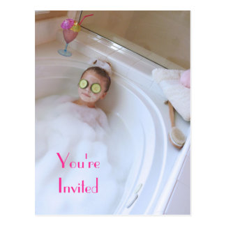 You're Invited to a Spa Day Postcard