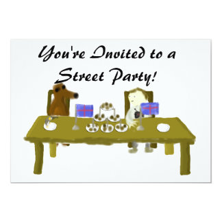 You're Invited to a Street Party Diamond Jubilee C 13 Cm X 18 Cm Invitation Card