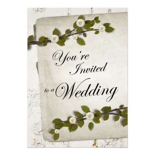 youre invited to a wedding floral rustic custom invites