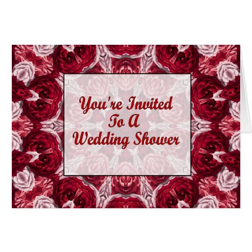 youre invited to a wedding shower greeting card zazzle