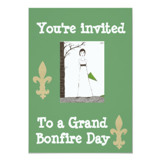 You're invited to bonfire day card