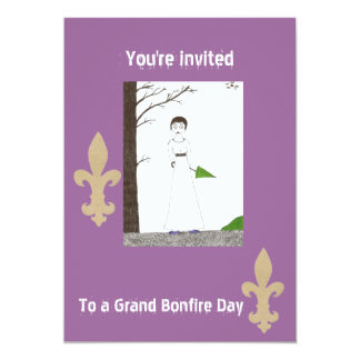 You're invited to bonfire day 5x7 paper invitation card