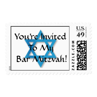 You're Invited To My Bar Mitzvah! Postage Stamp