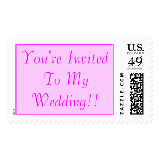 You're Invited To My Wedding!! Stamps