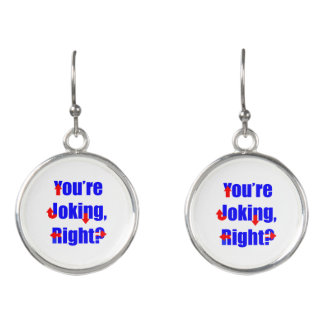 You're Joking, Right? Hillary Clinton Earrings