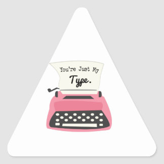 Youre Just My Type Triangle Sticker