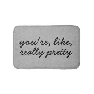You're like really pretty rustic chic burlap linen bath mats