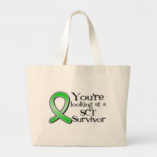You're Looking at a Stem Cell Transplant Survivor Large Tote Bag