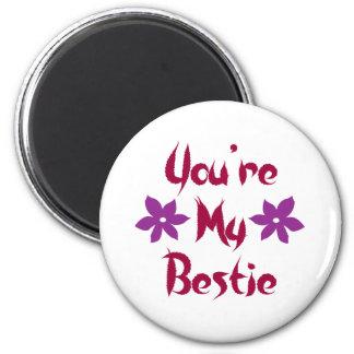 You're My Bestie 2 Inch Round Magnet